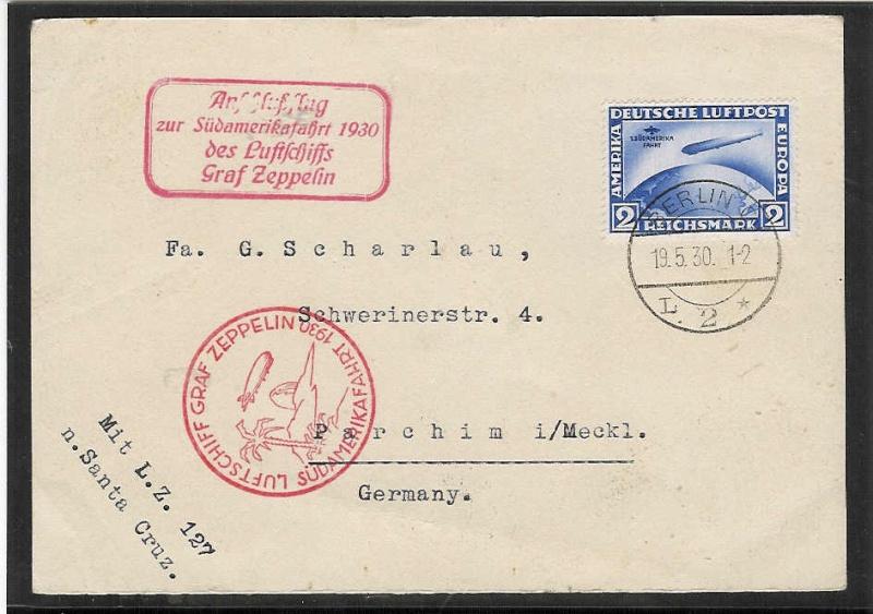 Südamerikafahrt 1930, Post nach Praia (Kapverdische Inseln) 57_q10