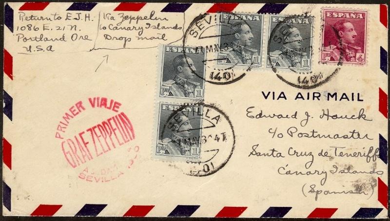 nach - Südamerikafahrt 1930, Post nach Praia (Kapverdische Inseln) 58_aa10