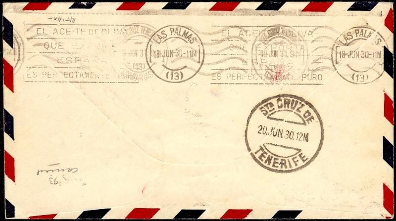 nach - Südamerikafahrt 1930, Post nach Praia (Kapverdische Inseln) 58_aa_10