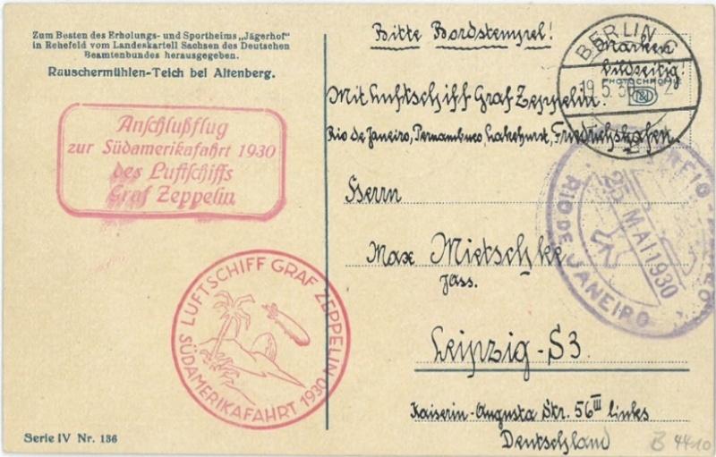 nach - Südamerikafahrt 1930, Post nach Rio de Janeiro - Seite 2 668411
