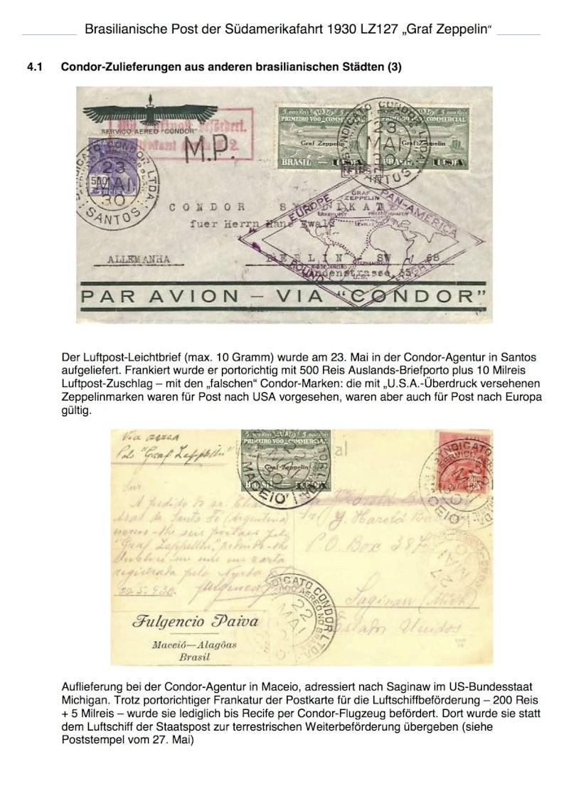 """Südamerikafahrt 1930 (Rundfahrt-) Post nach Friedrichshafen"""" - Seite 5 Brasil11"""