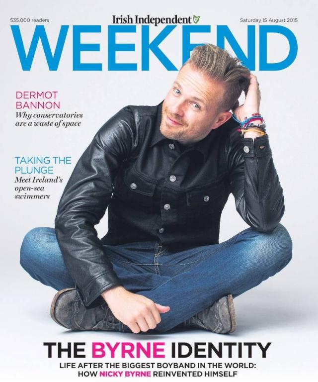Nicky en Irish Independent Weekend Magazine Wk150810