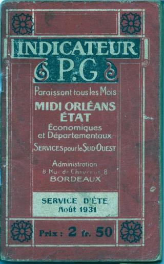 A VENDRE : 5 livrets indicateurs horaires (CHAIX, MAYEUX, autres) de 1919 à 1941 1931-i10