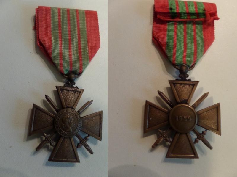 vend medaille CDG 1939, medaille afrique du Nord, CVM et ordre agricole Laos  Sam_2310