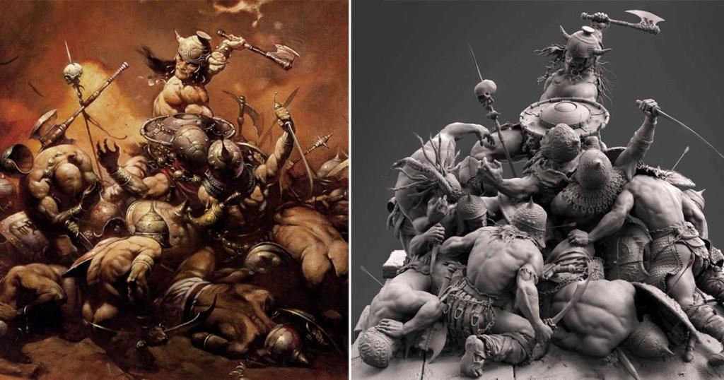 Statues et customs (créatures & Barbares) - Page 2 Conan_10