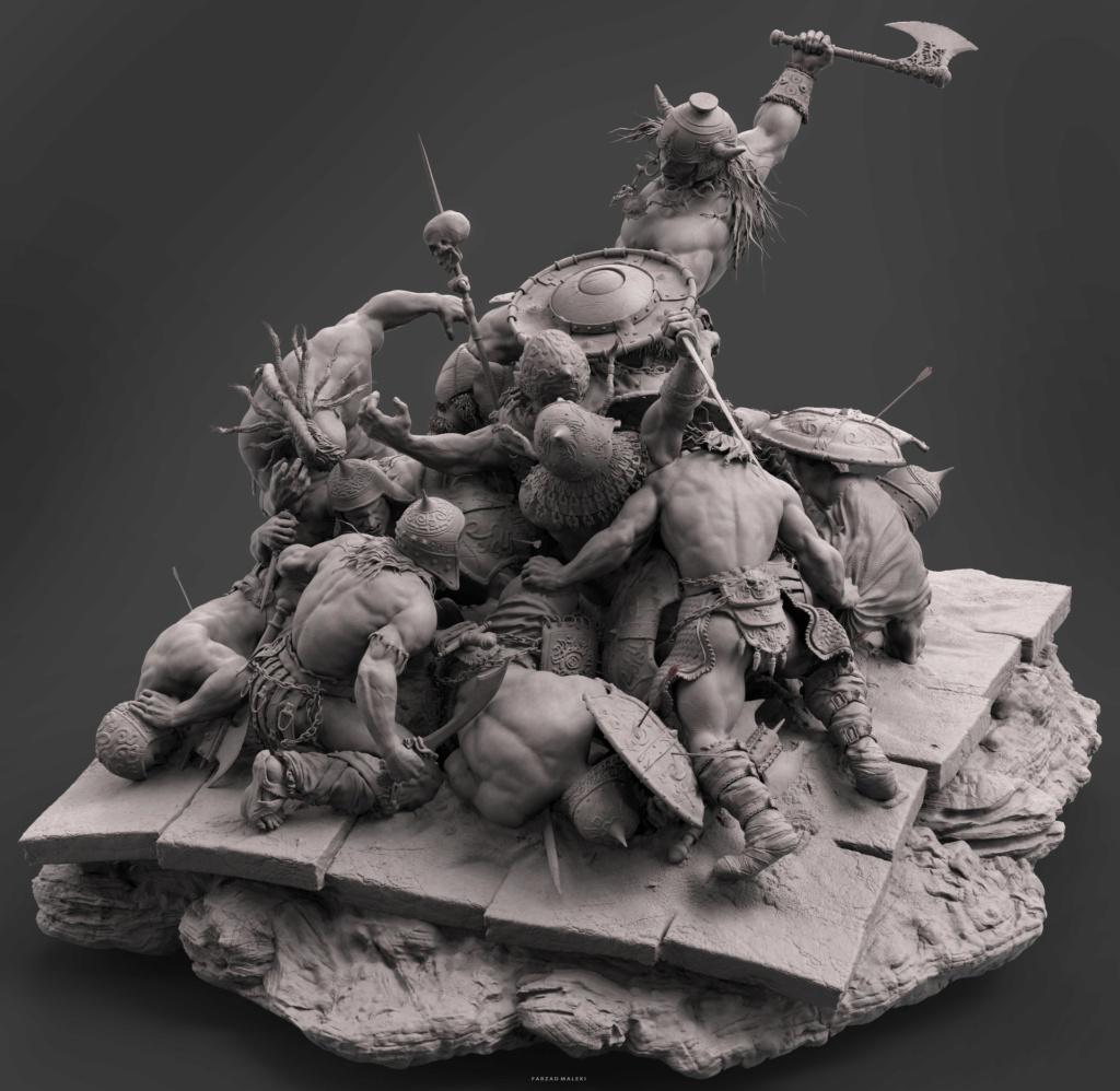 Statues et customs (créatures & Barbares) - Page 2 Conan_14
