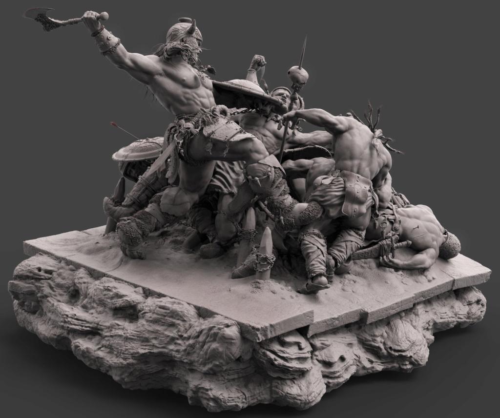 Statues et customs (créatures & Barbares) - Page 2 Conan_15