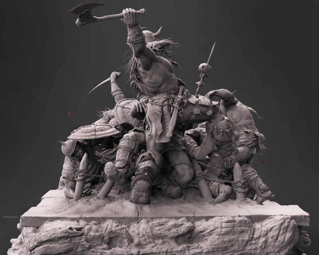 Statues et customs (créatures & Barbares) - Page 2 Conan_16