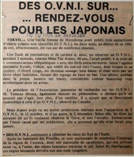 Des ovnis au Japon [Article ancien] 110