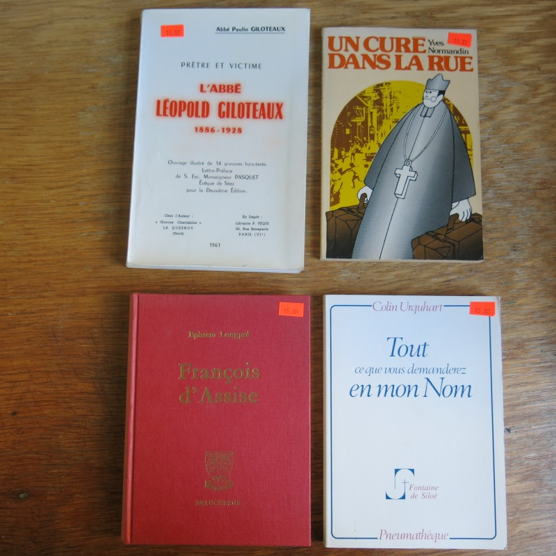 Liste de livres spirituels catholiques à vendre ! 00114