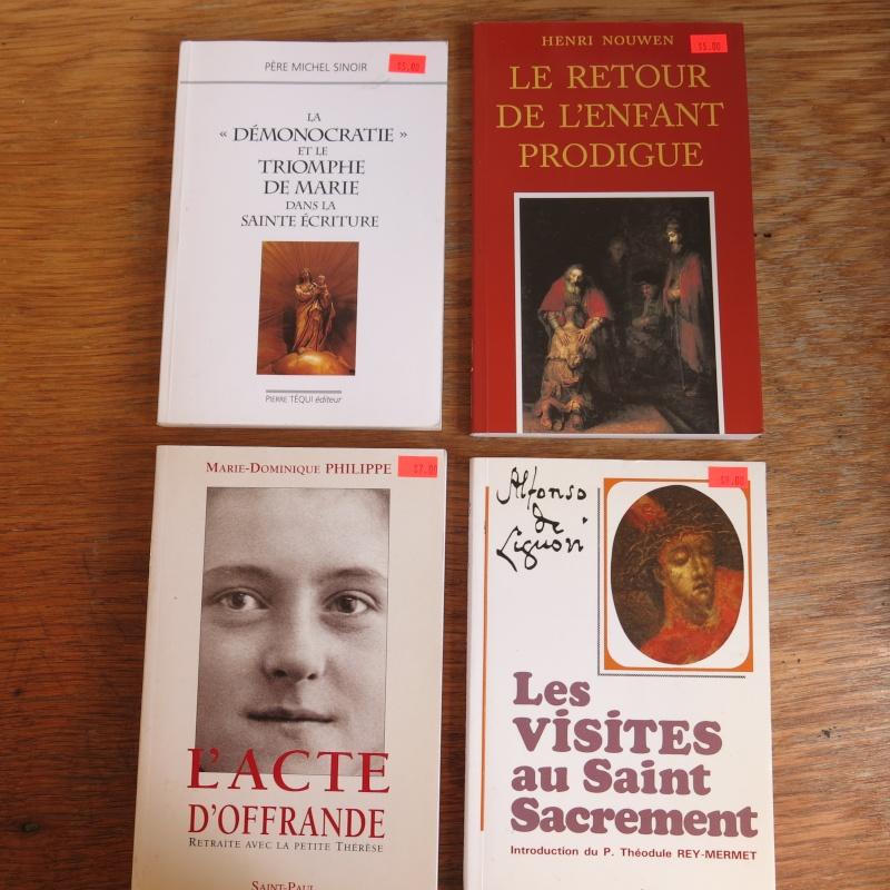 Liste de livres spirituels catholiques à vendre ! 00213