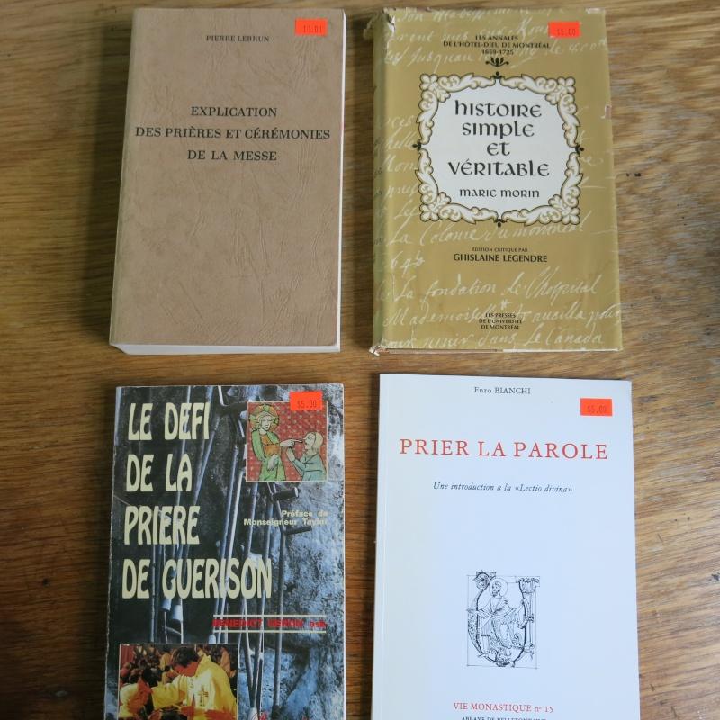 Liste de livres spirituels catholiques à vendre ! 00415