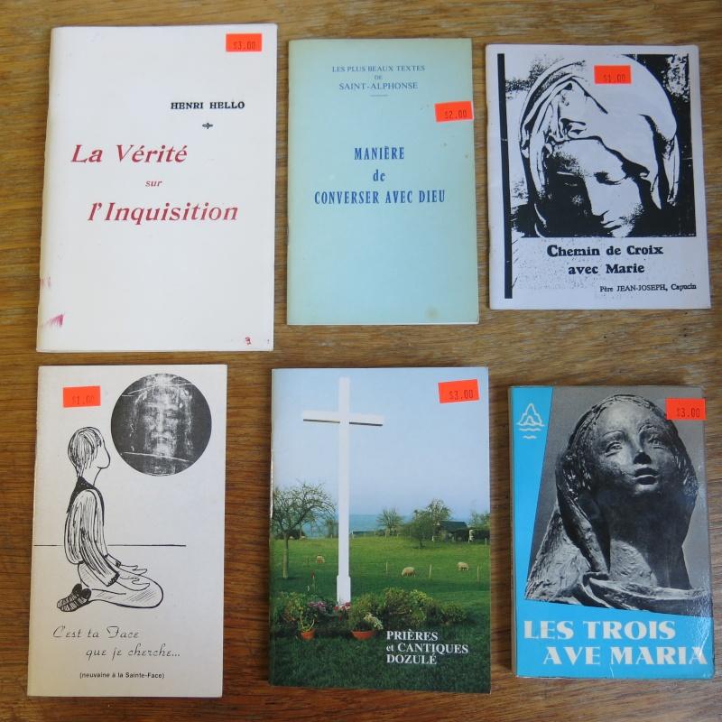 Liste de livres spirituels catholiques à vendre ! 00611