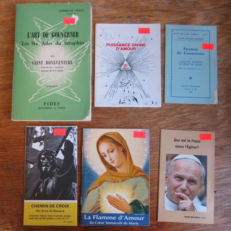 Liste de livres spirituels catholiques à vendre ! 00711