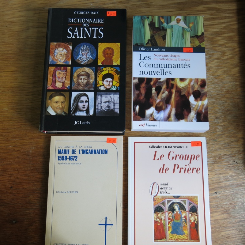Liste de livres spirituels catholiques à vendre ! 00714