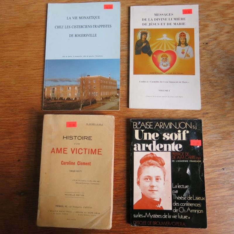 Liste de livres spirituels catholiques à vendre ! 00810