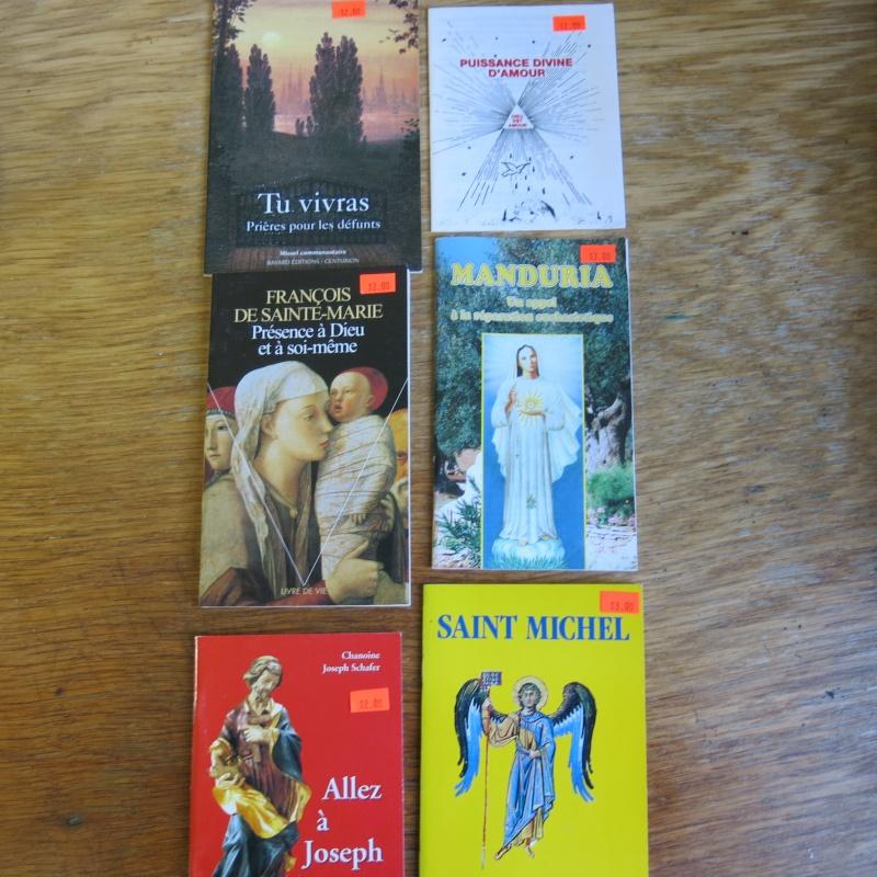 Liste de livres spirituels catholiques à vendre ! 01011