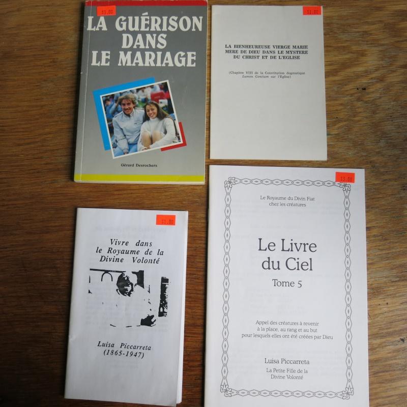 Liste de livres spirituels catholiques à vendre ! 01012