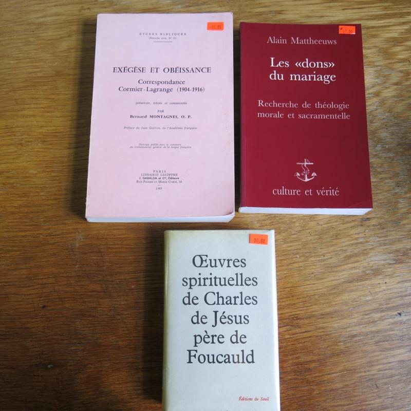 Liste de livres spirituels catholiques à vendre ! 01013
