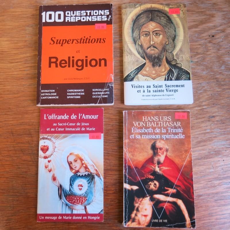 Liste de livres spirituels catholiques à vendre ! 01310