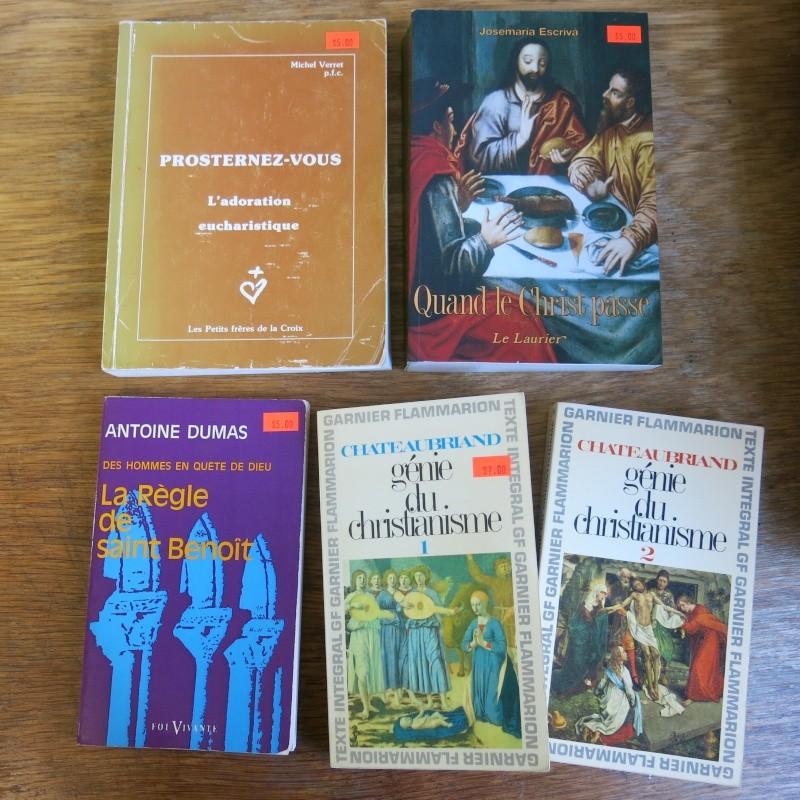Liste de livres spirituels catholiques à vendre ! 01311