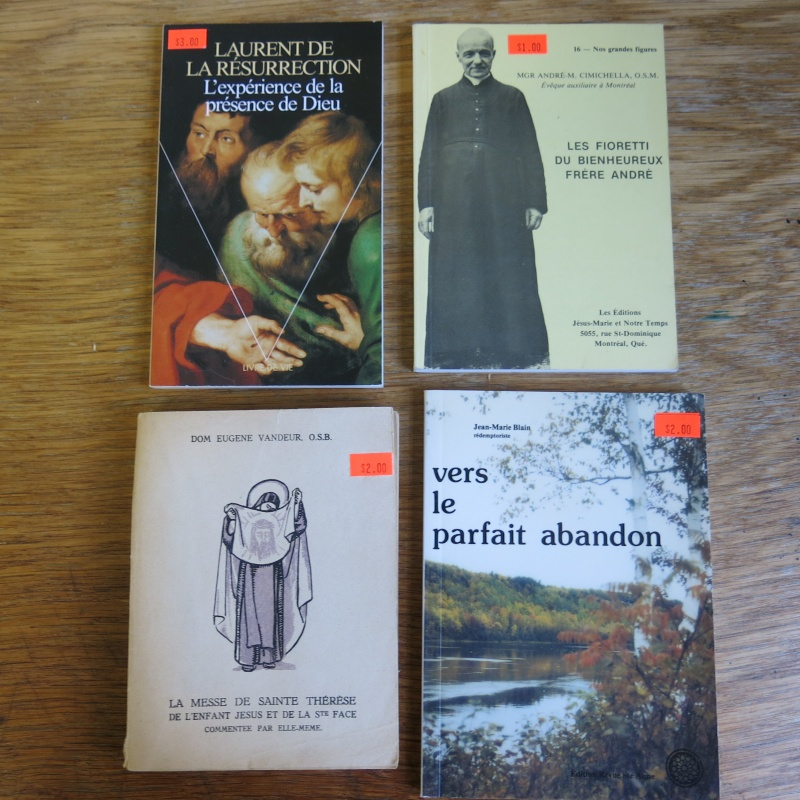 Liste de livres spirituels catholiques à vendre ! 01410