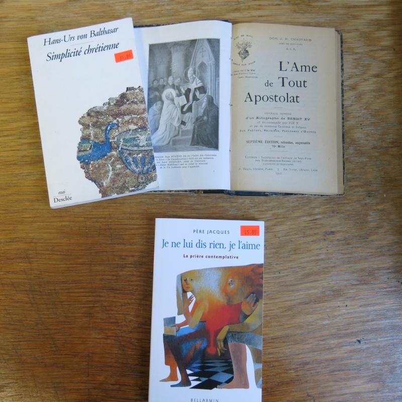 Liste de livres spirituels catholiques à vendre ! 01611
