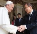 Le Pape François et Ben Ki-Moon font cause commune pour le climat ! Pape-f10