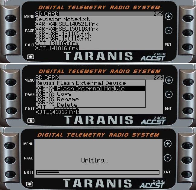Certification ETSI EN 300 328 pour les Taranis et RX de la série X - Liens pour télécharger les mises à jour Flashf10