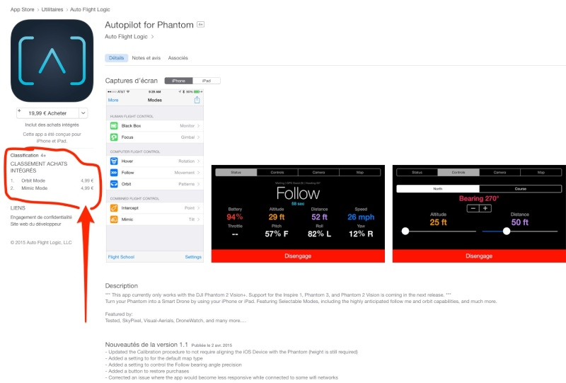 Autopilot App for DJI Phantom 2 Vision+ (Follow me ) Itunes10