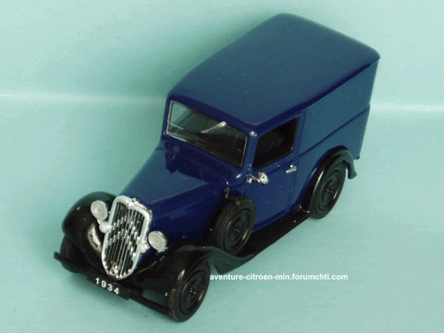 """Citroën Fourgons et voitures de livraison """"500 kg - Rosalie"""" 1934ro10"""