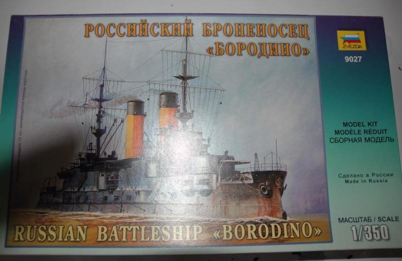 Borodino 1/350 von Zvezda mit White Ensign Ätzteilen 110