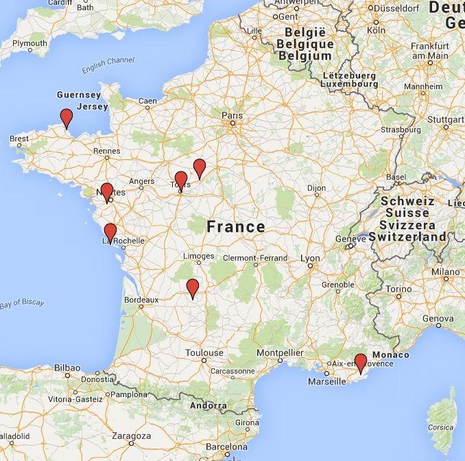Carte pour passer ses vacances en Zoé Captur12