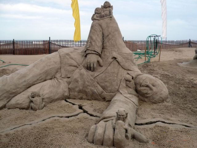 أجمل المنحوتات الرملية التي تم بنائها على الإطلاق The-be16