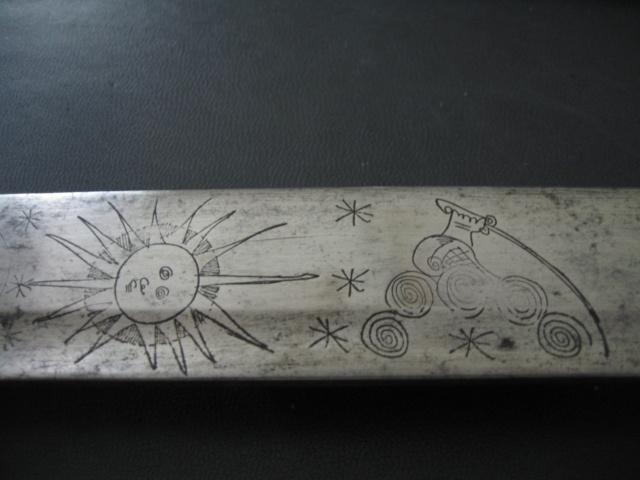 sabre briquet avec lame gravée. Img_2814