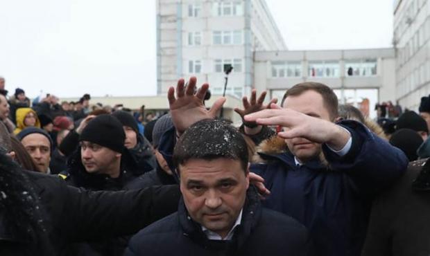 Губернатор Подмосковья сбежал от жителей Воскресенска и их «неудобных» вопросов Nau__n10