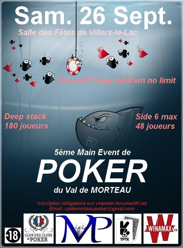 5ème Main Event du Val de Morteau Poker Affich12