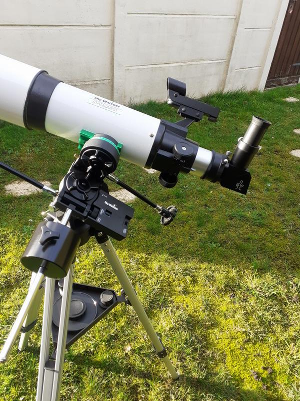 """Observation solaire en mode """"grab n go"""" avec une StaQuest 102R 20201212"""