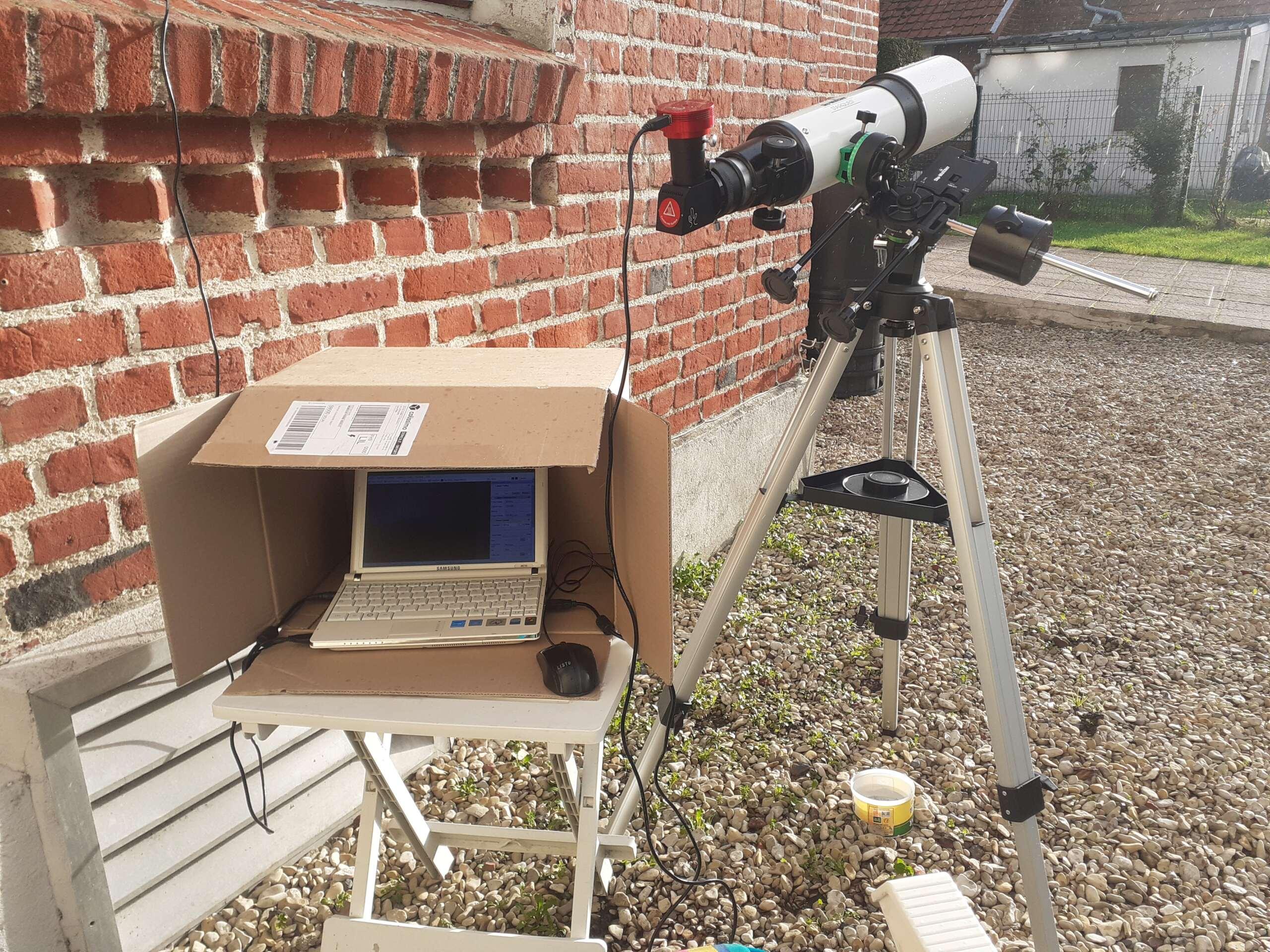 """Observation solaire en mode """"grab n go"""" avec une StaQuest 102R 20201215"""