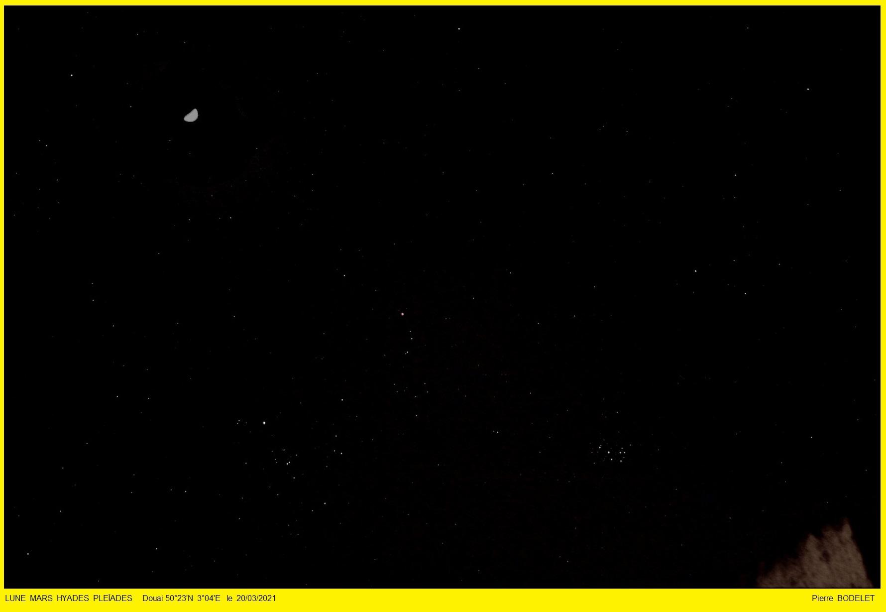Lune Mars Hyades et Pleïades : la rencontre  20210312
