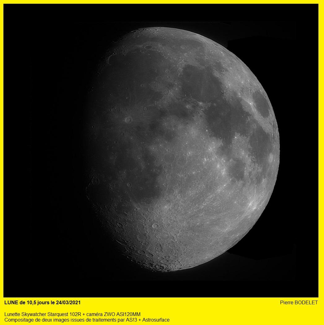 LUNE : une petite image avant de se faire envahir par les nuages ... 20210319