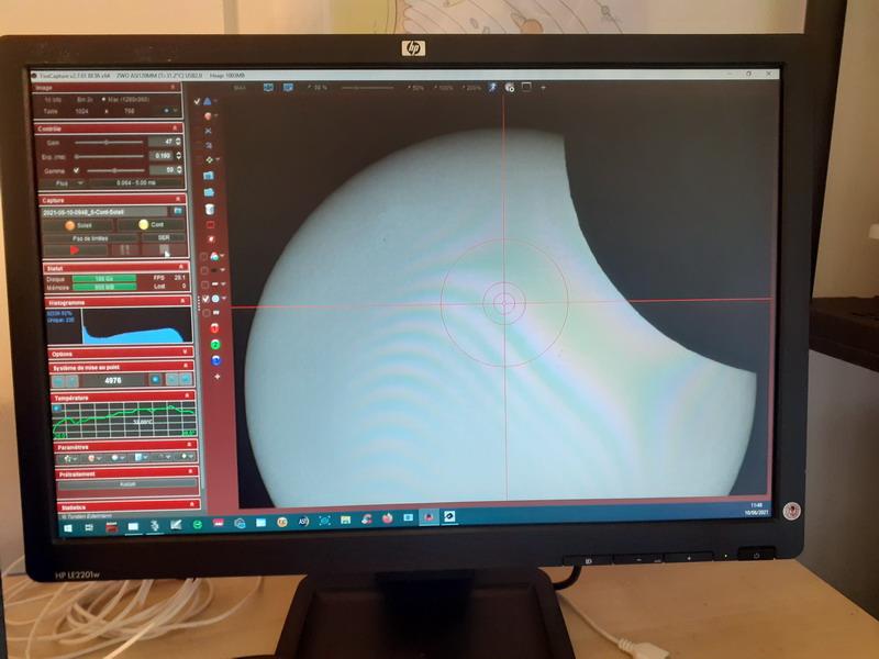 Eclipse partielle de Soleil du 10/06/2021 : plus une vidéo et vignettes  Eclips25