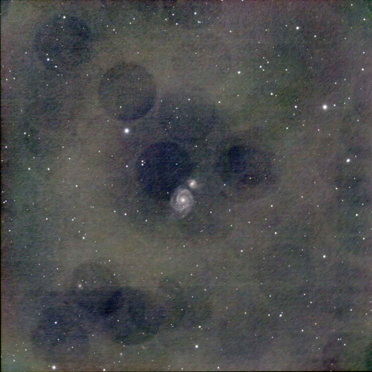 M 51 : une image quand même ... M51_sa10