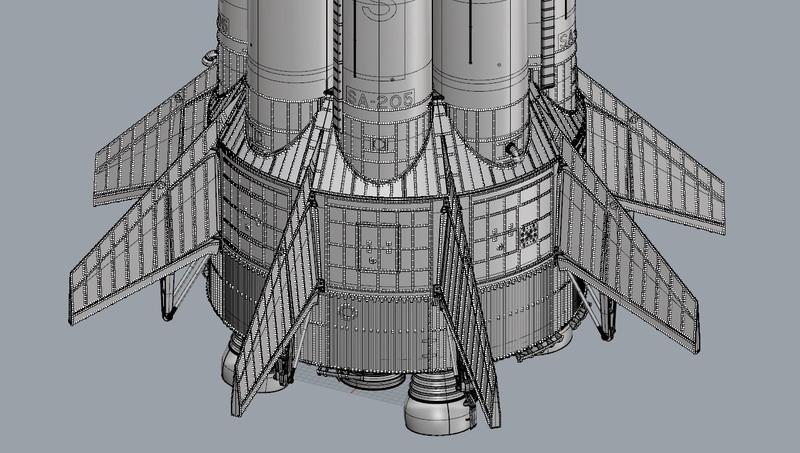 Saturne 1B et la mission Apollo 7 (AIRFIX 1/144) : le FINAL ! Saturn96