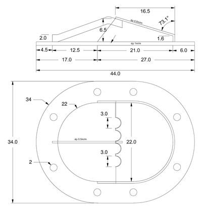 Fabrication de deux crépines pour Tamar - C.A.O. & Métallurgie  Crepin12