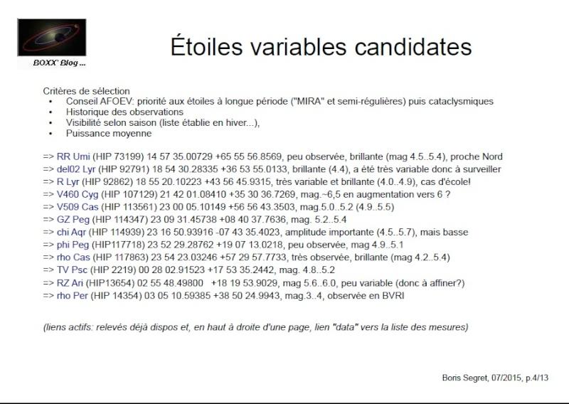 Photométrie sur étoiles variables 2b10
