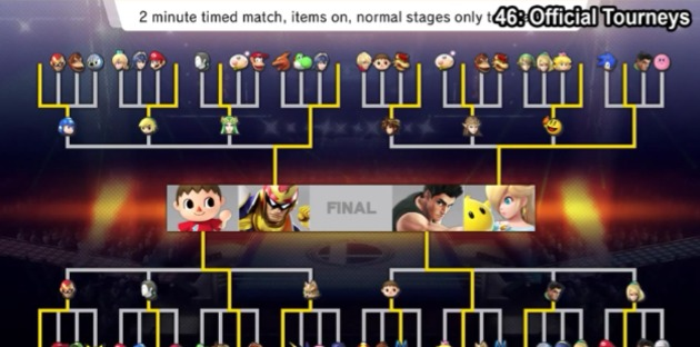 E3: Tournament Mode Arrives On Super Smash Bros. For Wii U In August! 630x15