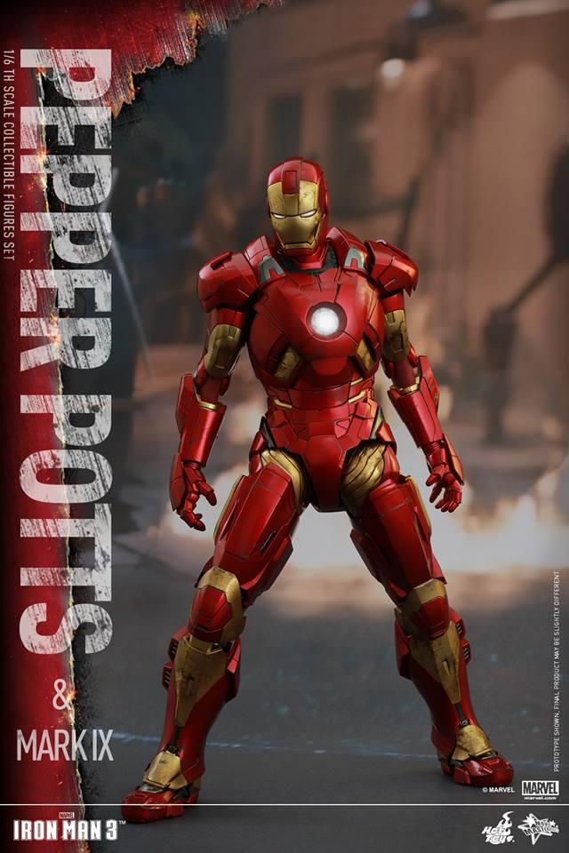 HOT TOYS -  Iron Man 3 - Pepper Potts & Mark IX 10409310