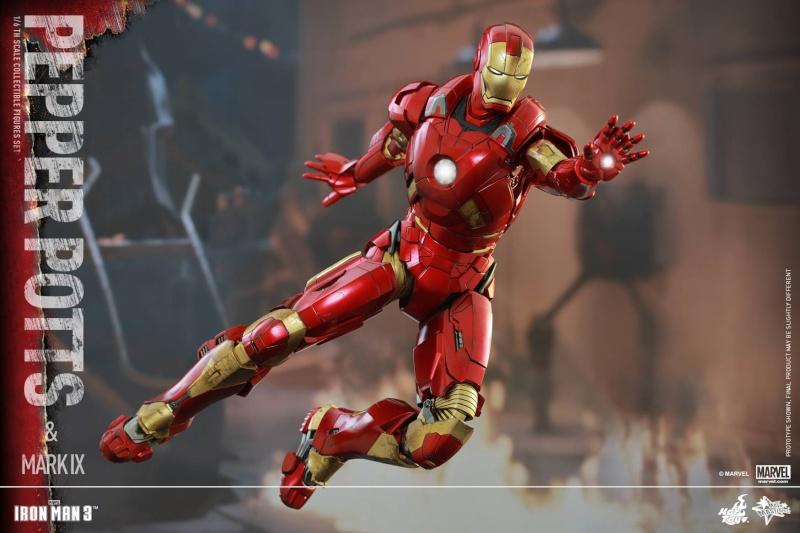HOT TOYS -  Iron Man 3 - Pepper Potts & Mark IX 10687210