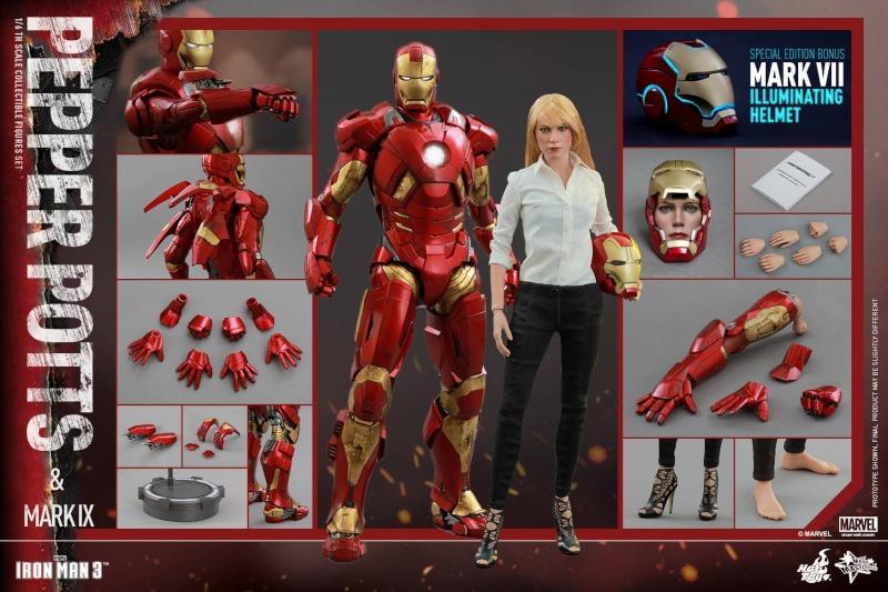HOT TOYS -  Iron Man 3 - Pepper Potts & Mark IX 11112811